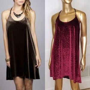 Umgee Velvet Animal Print T back Mini Dress